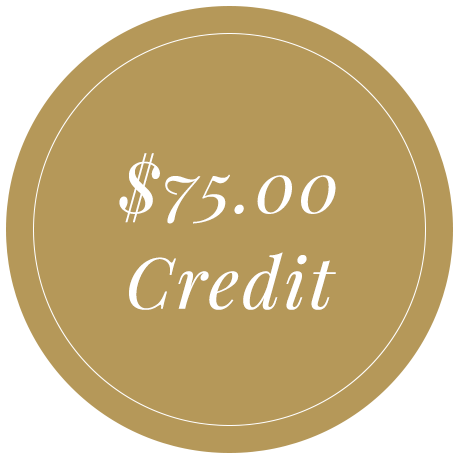 $75 credit referral reward