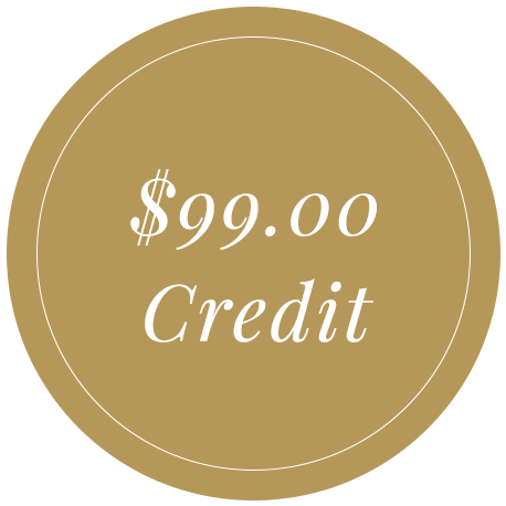 $99 credit referral reward